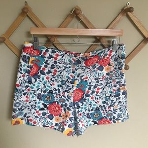 LOFT floral shorts size 8